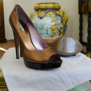 Miu Miu Rose Gold Leather heels